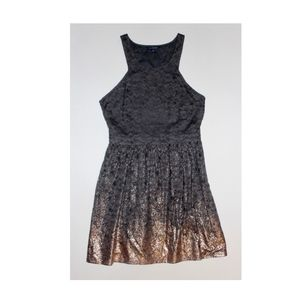 American Eagle Dark Gray Lace w/ Copper Dress